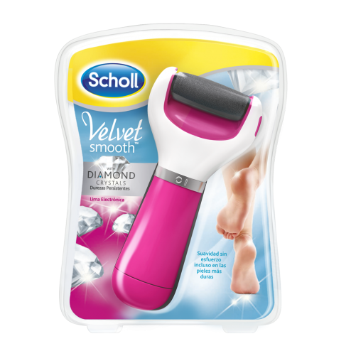 Dr Scholl Velvet Smooth Lima Electrónica Dyamond Crystals Rosa