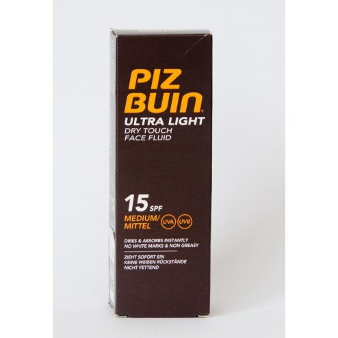 Piz Buin SPF-15 Ultra Light Dry Touch Protección Solar Facial Media 50 ml