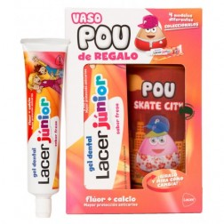 Lacer Junior Gel Dental 75 ml fresa con Taza Pou de Regalo